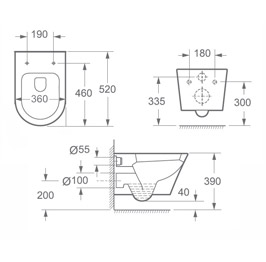 maimai design toilette aachen108 aus keramik mit silentclose. Black Bedroom Furniture Sets. Home Design Ideas