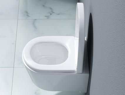 sp lrandloses wand h nge wc mit soft close sitz h nge wc aus keramik aachen306 ebay. Black Bedroom Furniture Sets. Home Design Ideas