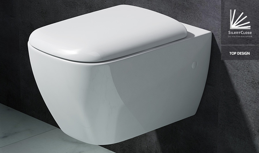 edle design toilette h nge wc mit silent close sitz neu markenartikel ebay. Black Bedroom Furniture Sets. Home Design Ideas