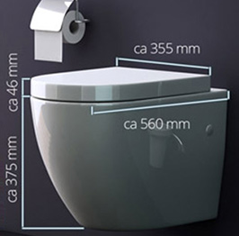 wc toilette wc suspendu abattant silencieux lunette de wc 376 promo. Black Bedroom Furniture Sets. Home Design Ideas