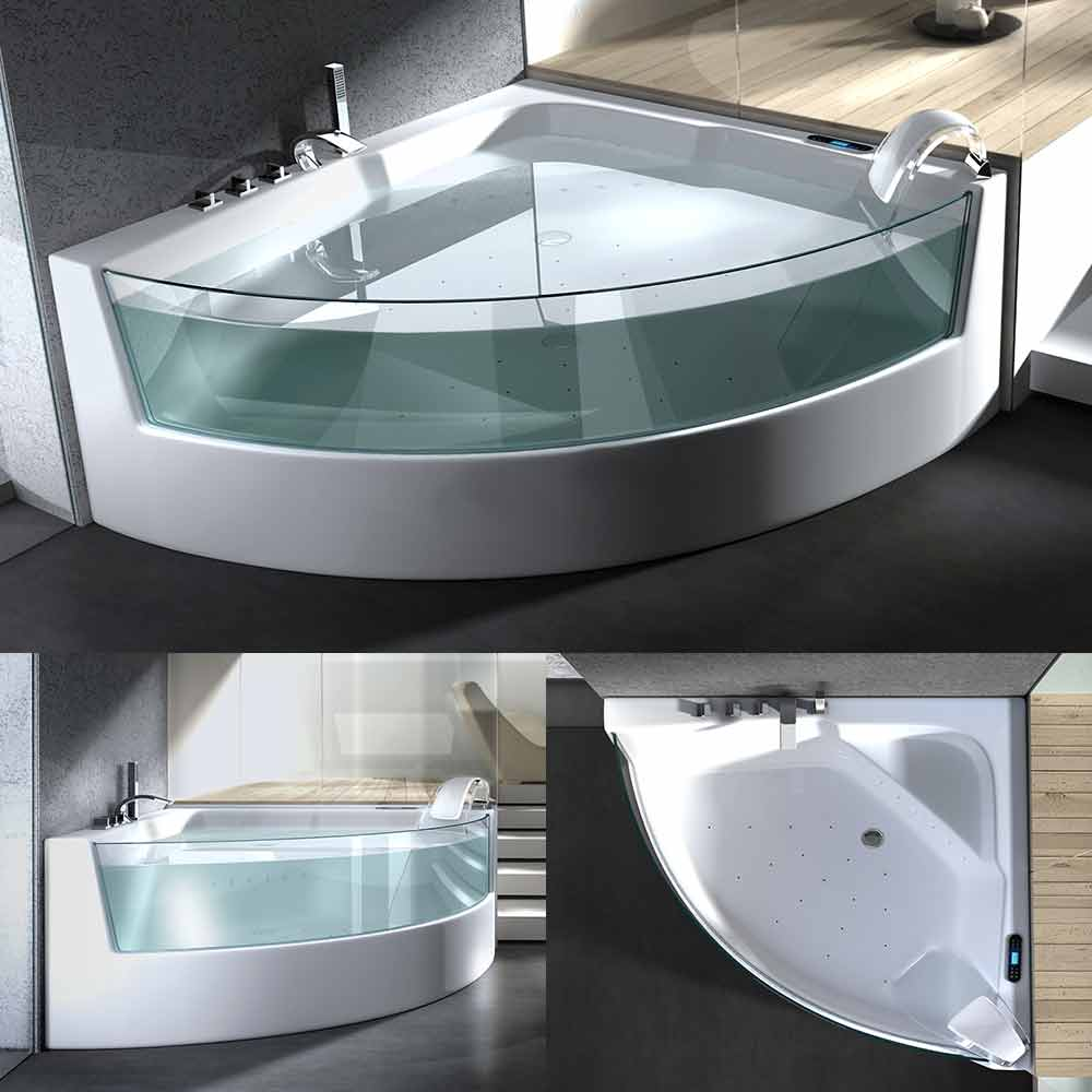 whirlpool whirlwanne badewanne ozon luftd sen licht. Black Bedroom Furniture Sets. Home Design Ideas