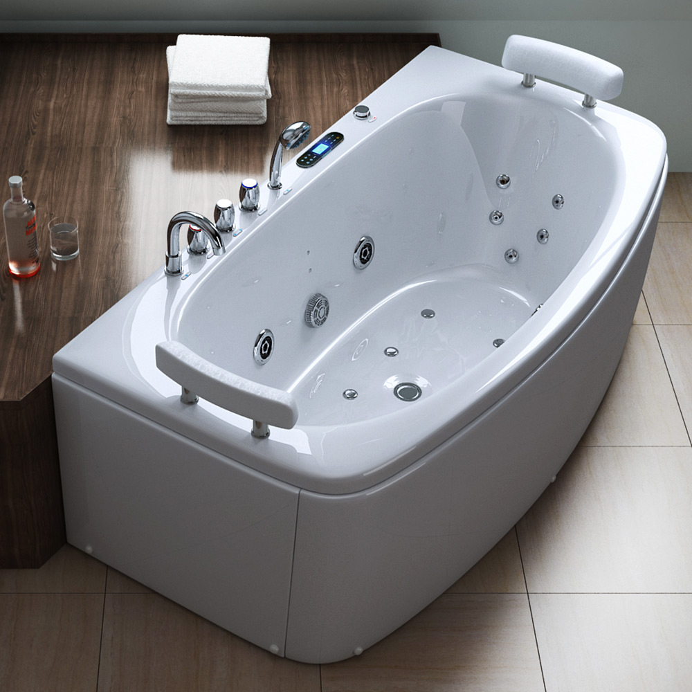 luxus whirlpool jacuzzi spa badewanne mit radio licht aveiro1030 ebay. Black Bedroom Furniture Sets. Home Design Ideas