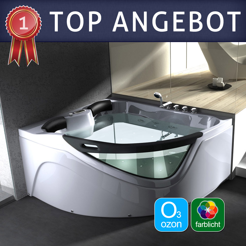 luxus whirlpool jacuzzi spa badewanne mit radio licht aveiro13 ebay. Black Bedroom Furniture Sets. Home Design Ideas