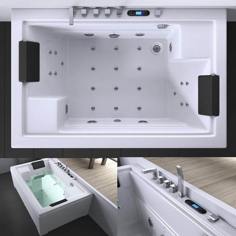 luxus whirlpool jacuzzi spa badewanne mit radio licht aveiro2009 ebay. Black Bedroom Furniture Sets. Home Design Ideas