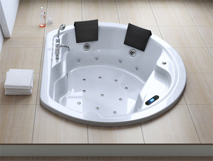 luxus whirlpool jacuzzi spa badewanne mit radio licht aveiro2011 ebay. Black Bedroom Furniture Sets. Home Design Ideas