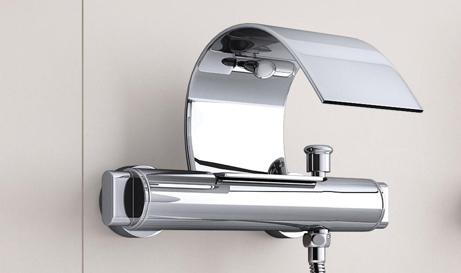 Design wasserfall badewannenarmatur berlina15 zweigriffmischer - Rubinetto bagno cascata ...