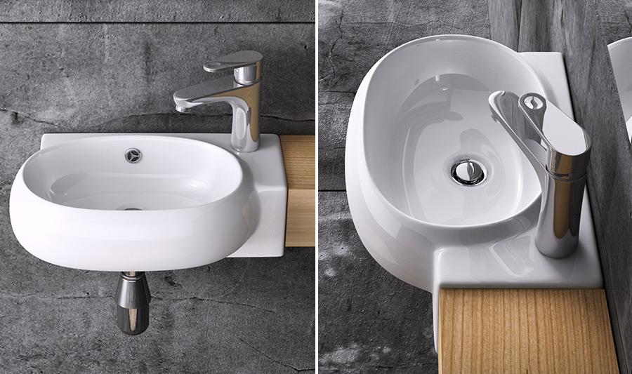 keramik waschschale wandmontage waschbecken waschtisch waschplatz br ssel001 ebay. Black Bedroom Furniture Sets. Home Design Ideas
