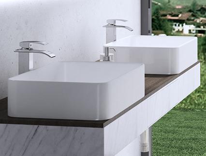 Lavabo vasque vier poser accessoire design c ramique - Monter un meuble sous evier ...