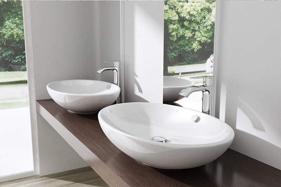 keramik waschschale aufsatz waschbecken waschtisch waschplatz 63 x 42 br ssel306 ebay. Black Bedroom Furniture Sets. Home Design Ideas