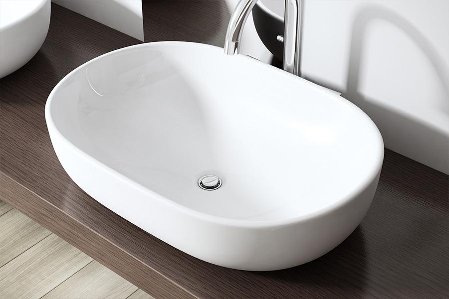 keramik waschschale wandmontage waschbecken waschtisch 60x42x11 cm bl322 wow ebay. Black Bedroom Furniture Sets. Home Design Ideas