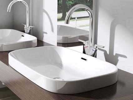 Lavabo vasque poser ou monter au mur vier design bruxelles 5082 promo ebay - Monter un meuble sous evier ...