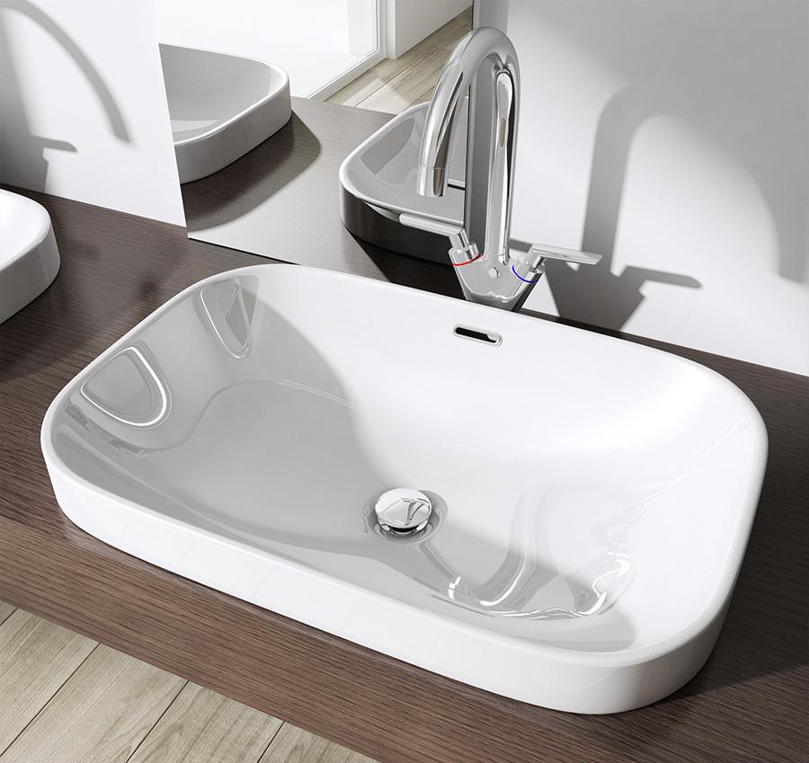 keramik waschschale einbau waschbecken waschtisch waschplatz br ssel5082 wow ebay. Black Bedroom Furniture Sets. Home Design Ideas