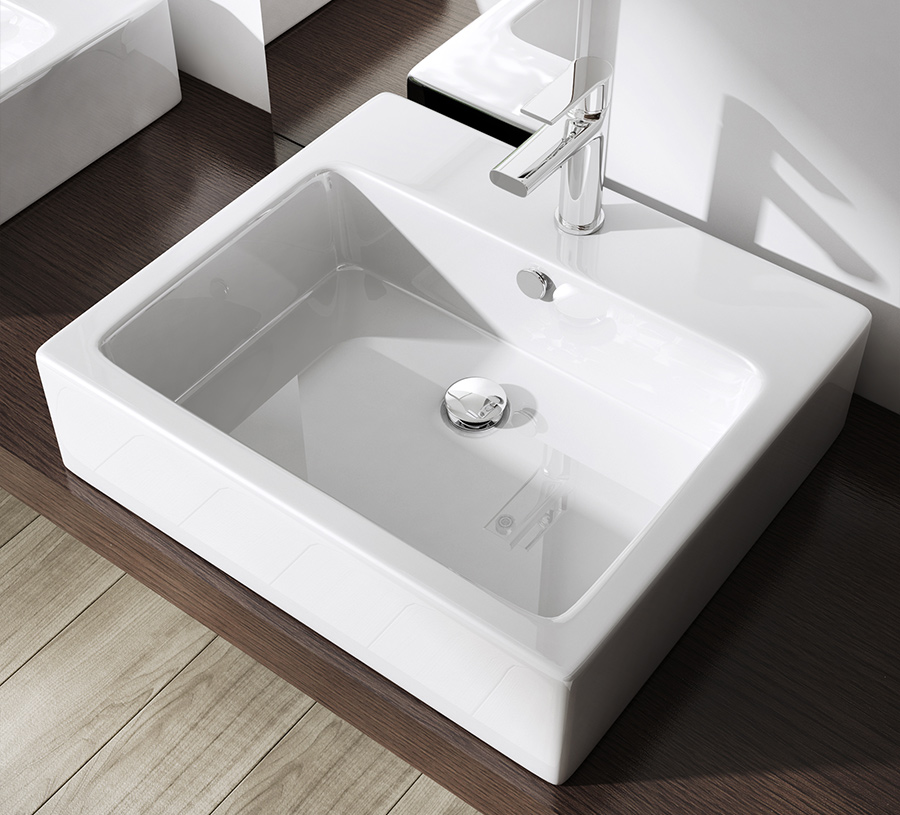 lavabo vasque poser ou monter au mur vier design bruxelles 712 promo ebay. Black Bedroom Furniture Sets. Home Design Ideas