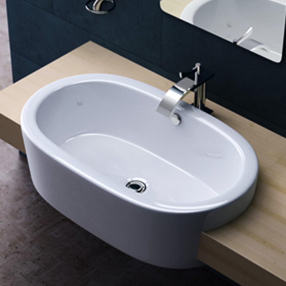 design keramik waschschale einbau waschbecken waschtisch waschplatz br ssel788 ebay. Black Bedroom Furniture Sets. Home Design Ideas