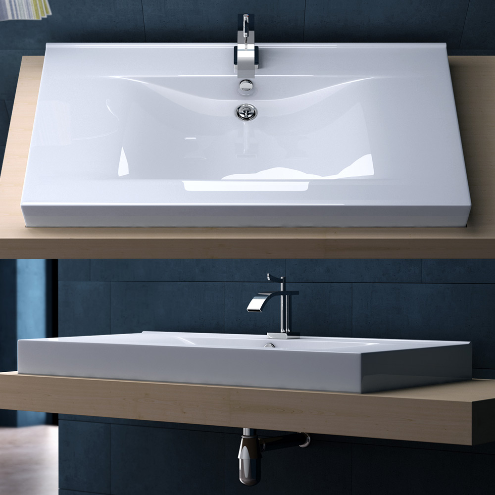 Design Keramik Waschschale Einbau Waschbecken Waschtisch