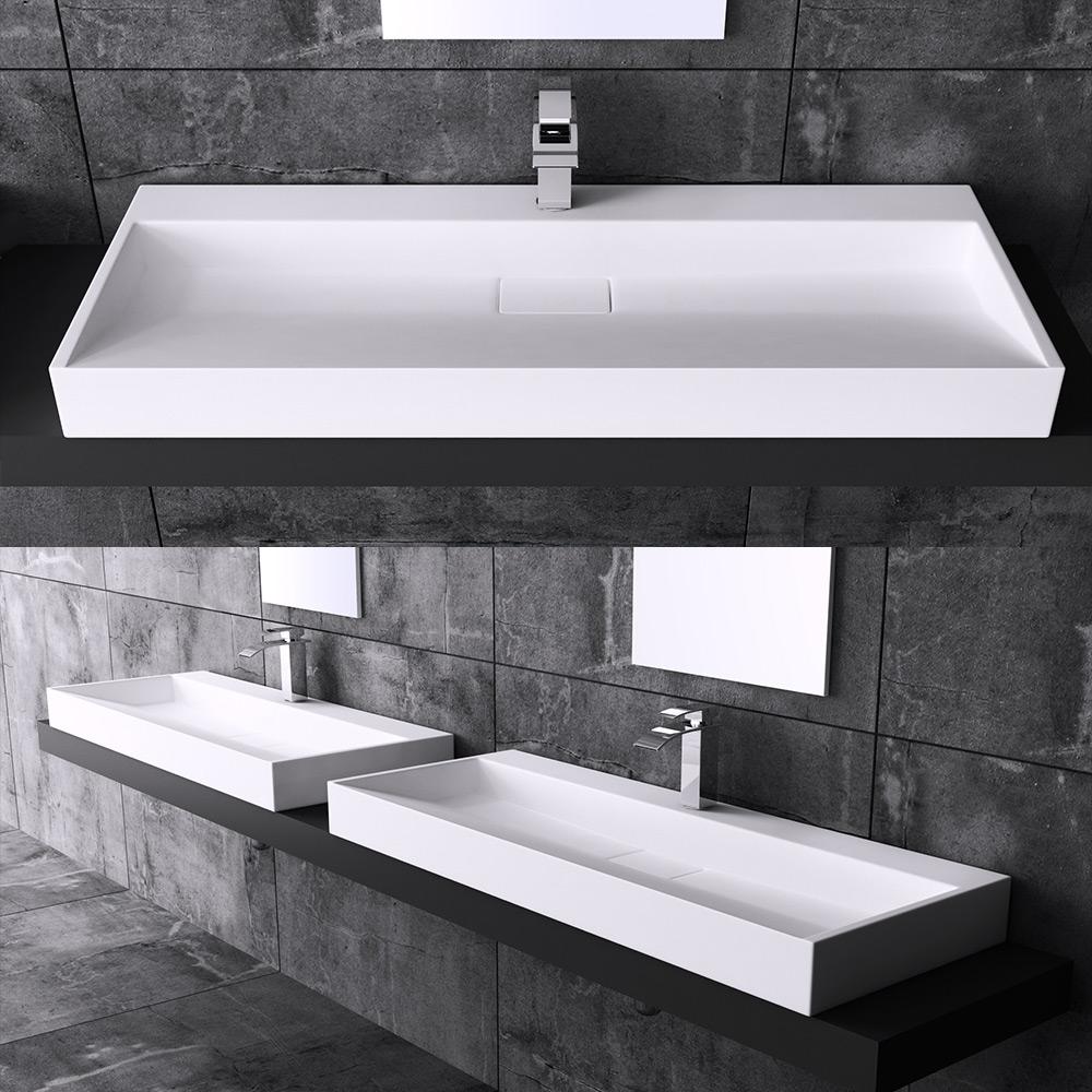 Waschbecken design eckig  DESIGN GUSSMARMOR WASCHBECKEN STAND WASCHTISCH WASCHPLATZ COLOSSUM ...