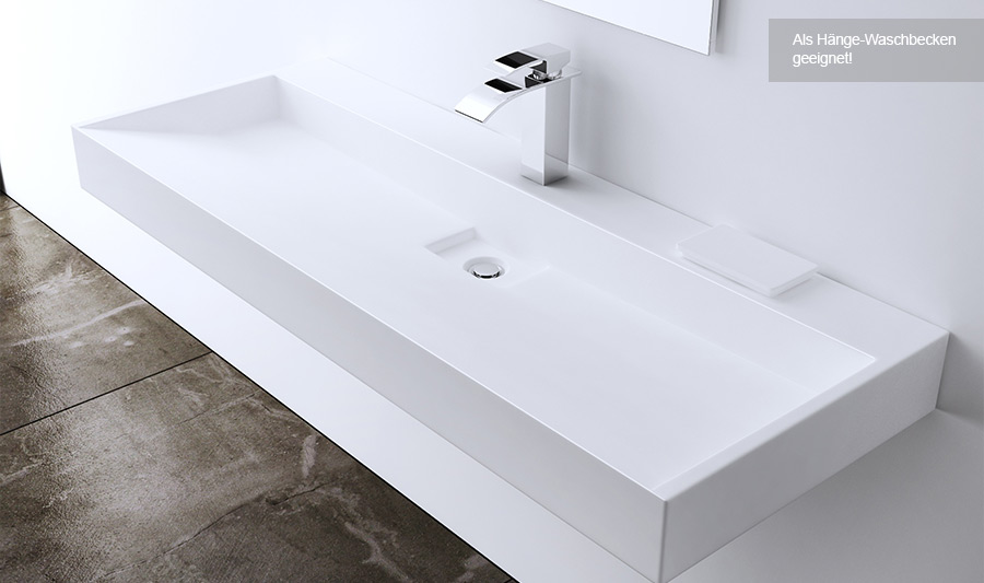 lavabo vasque vier poser ou monter au mur fonte min rale colossum 19 promo ebay. Black Bedroom Furniture Sets. Home Design Ideas