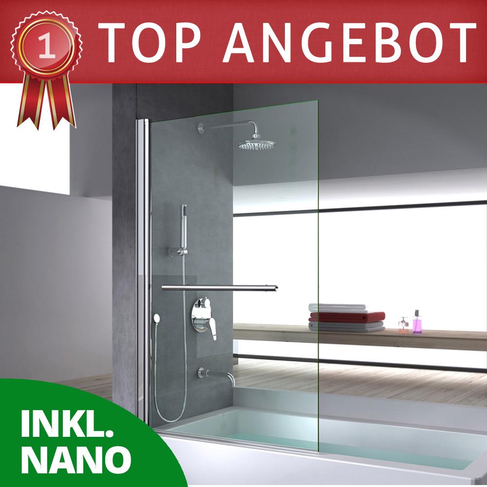 duschabtrennung duschwand f r badewanne aus glas badewannenfaltwand cortona1121 ebay. Black Bedroom Furniture Sets. Home Design Ideas