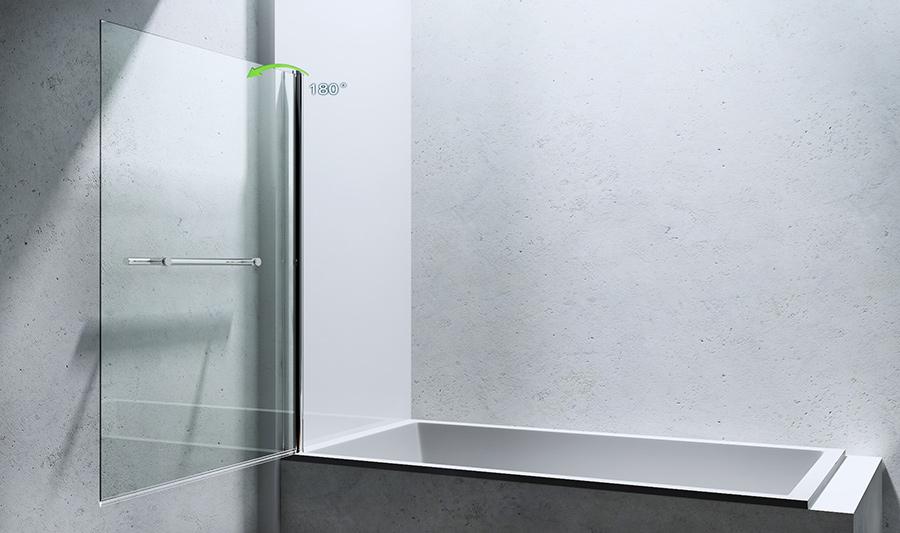 paroi pare douche porte de douche pour baignoire verre de s curit cortona1121. Black Bedroom Furniture Sets. Home Design Ideas