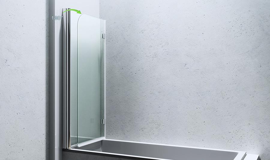 paroi pare douche porte de douche pour baignoire verre de s curit cortona 1408. Black Bedroom Furniture Sets. Home Design Ideas