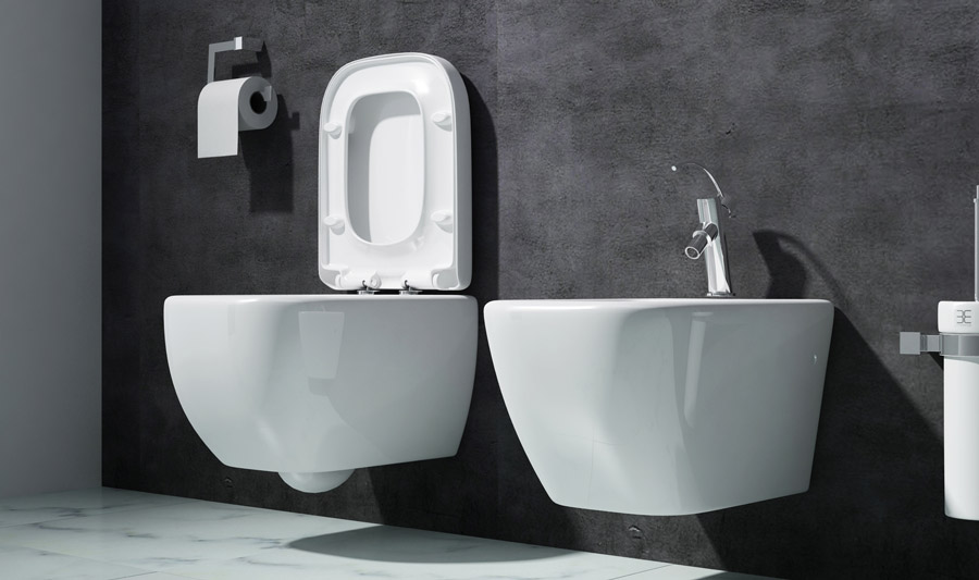 edles design h nge bidet wandh gend hange wc f r ihr bad d ren 101 ebay. Black Bedroom Furniture Sets. Home Design Ideas