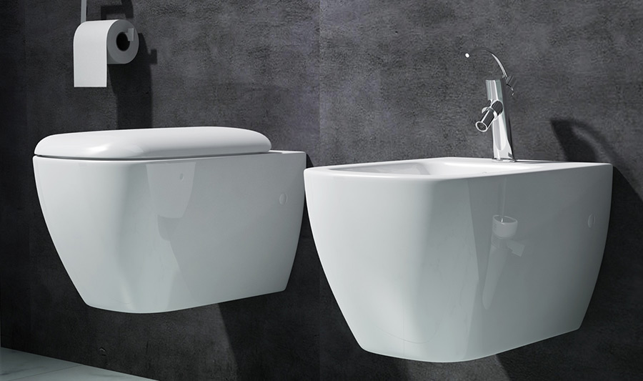 edles design wandbidet wand h nge bidet bad weiss keramik dr376 wow neu ebay. Black Bedroom Furniture Sets. Home Design Ideas