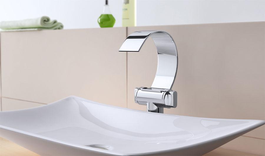 design wasserfall wascharmatur armatur f r bad wasch ebay. Black Bedroom Furniture Sets. Home Design Ideas