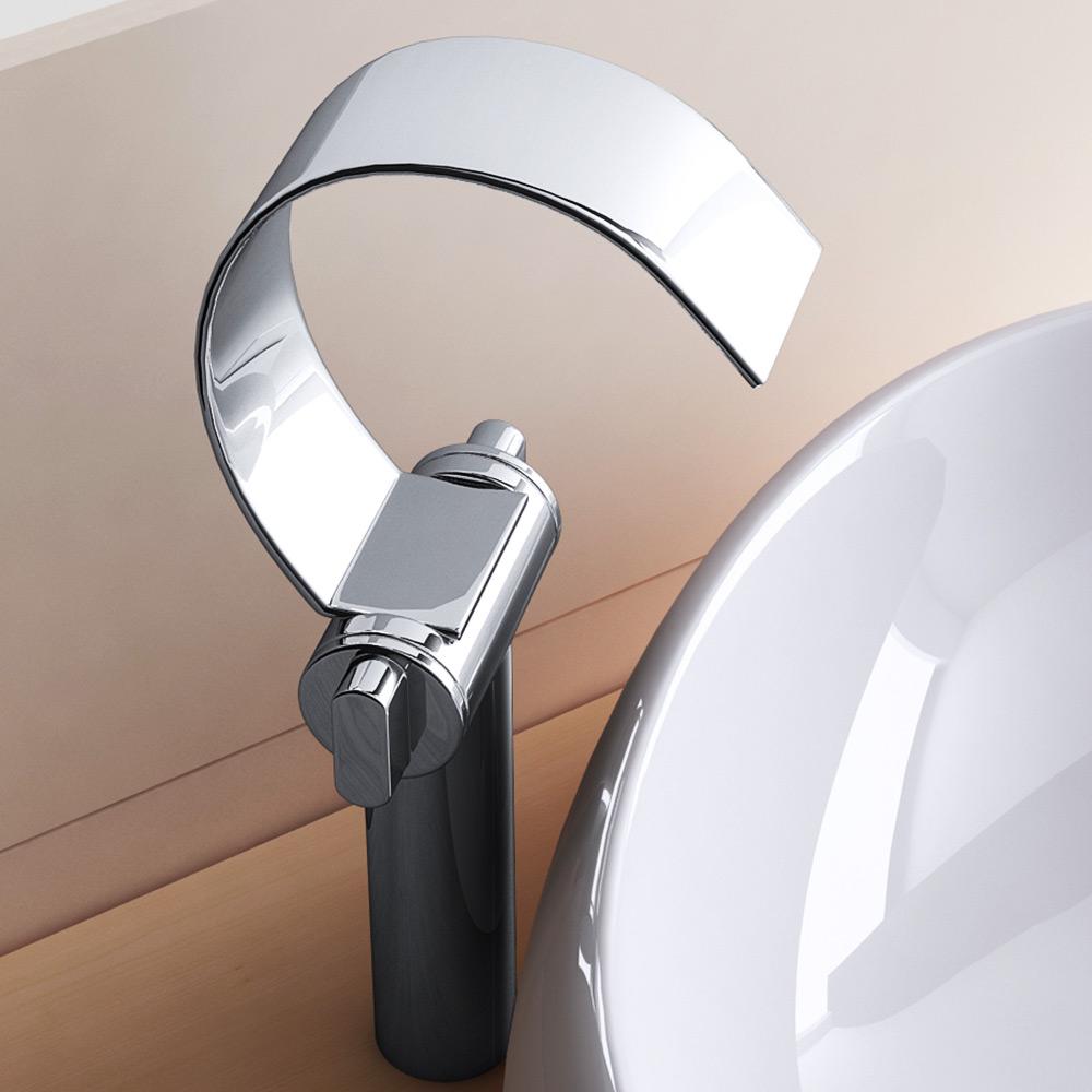 design wasserfall waschtischarmatur armatur f r waschbecken waschtisch wa60xl ebay. Black Bedroom Furniture Sets. Home Design Ideas