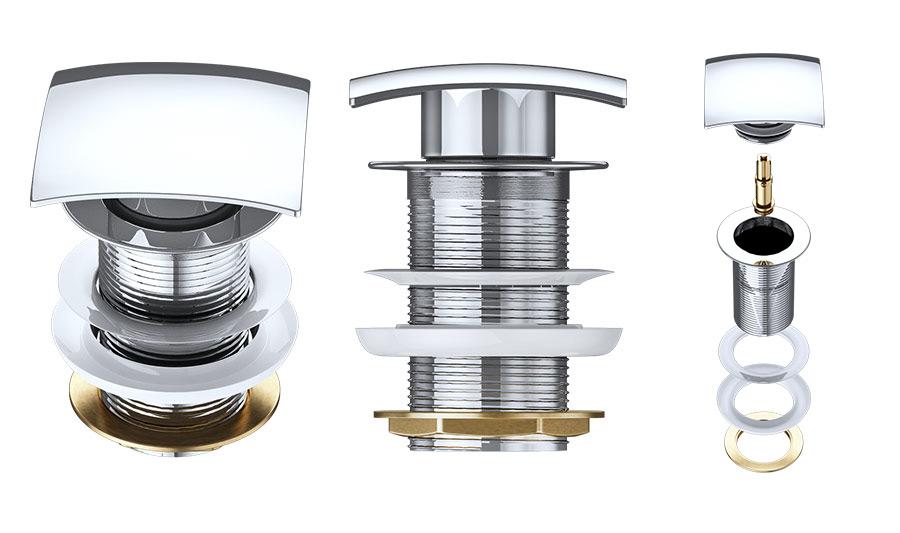 bonde de lavabo vasque automatique siphon salle de bain accessoire pushopen pu06 ebay. Black Bedroom Furniture Sets. Home Design Ideas