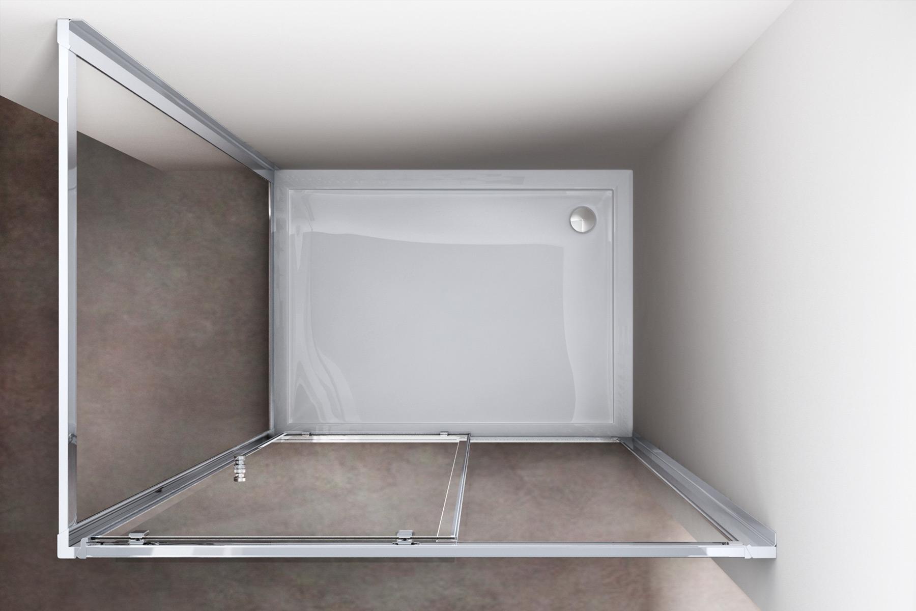 Paroi de douche pare douche verre de s curit cabine de for Realisation douche italienne sans receveur