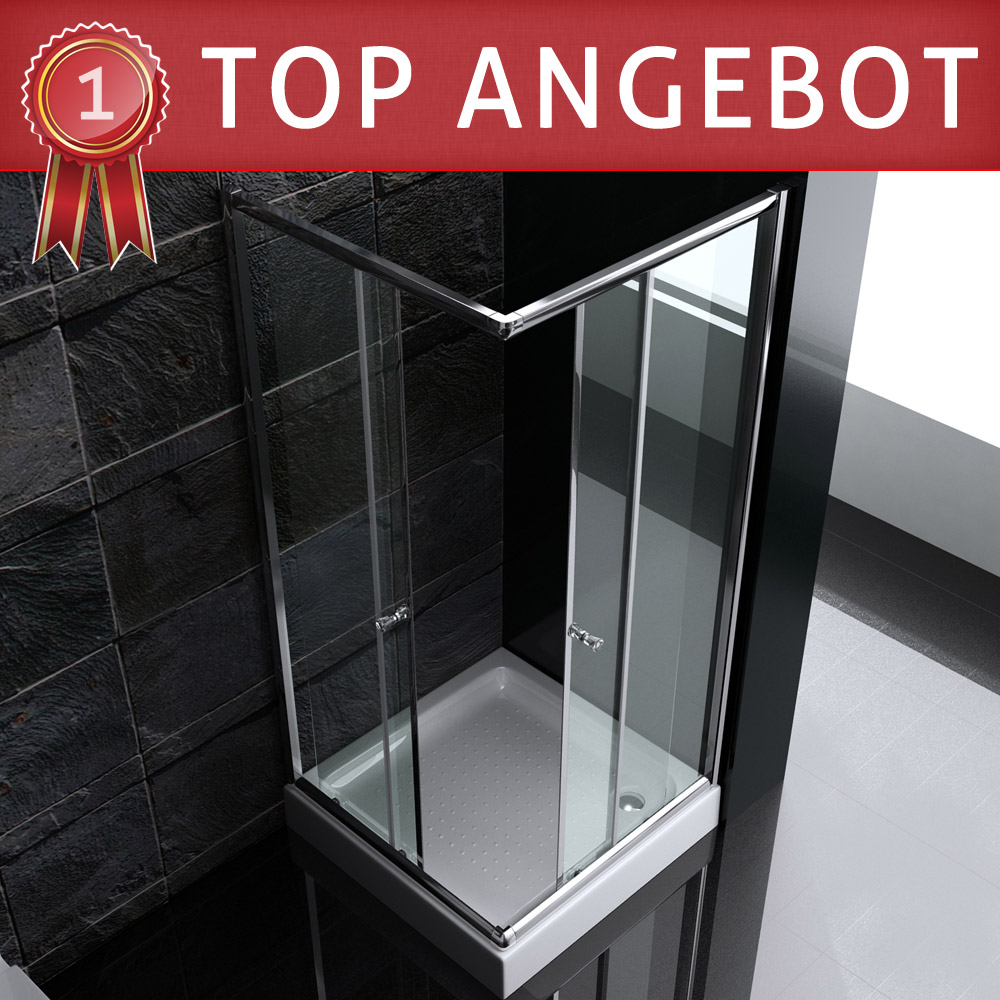 esg duschabtrennung duschkabine dusche schiebet r mit duschtasse ravenna15 ebay. Black Bedroom Furniture Sets. Home Design Ideas