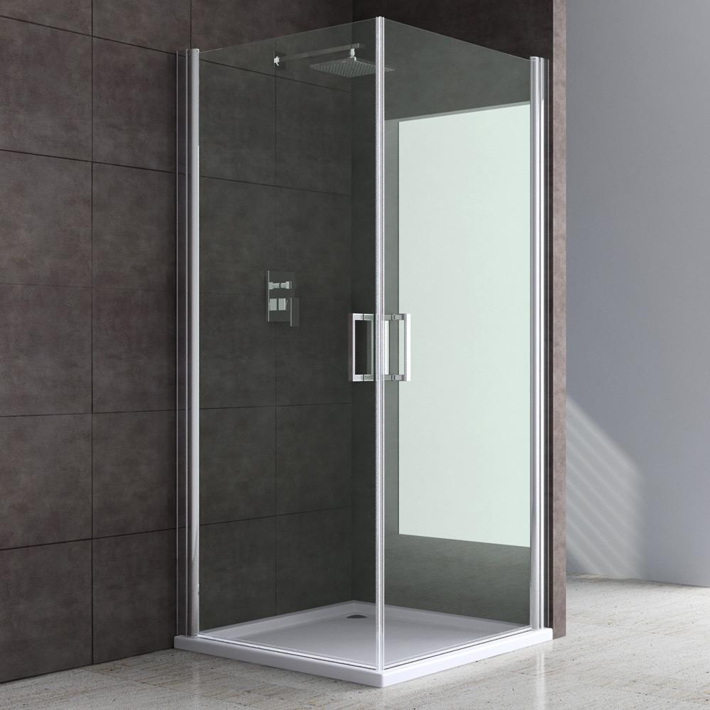 Das bild wird geladen design duschkabine duschabtrennung dusche mit doppel schwingtur ravenna22