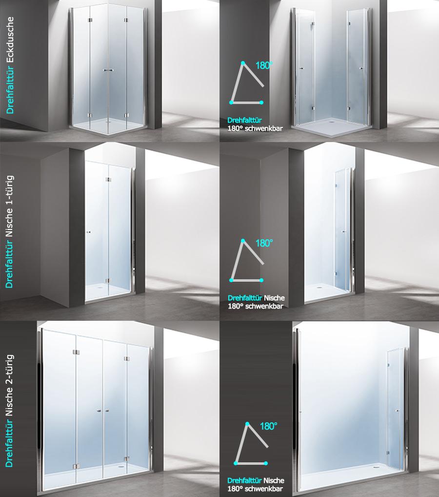paroi pare douche porte de douche cabine de douche rabattable verre ravenna26 ebay. Black Bedroom Furniture Sets. Home Design Ideas