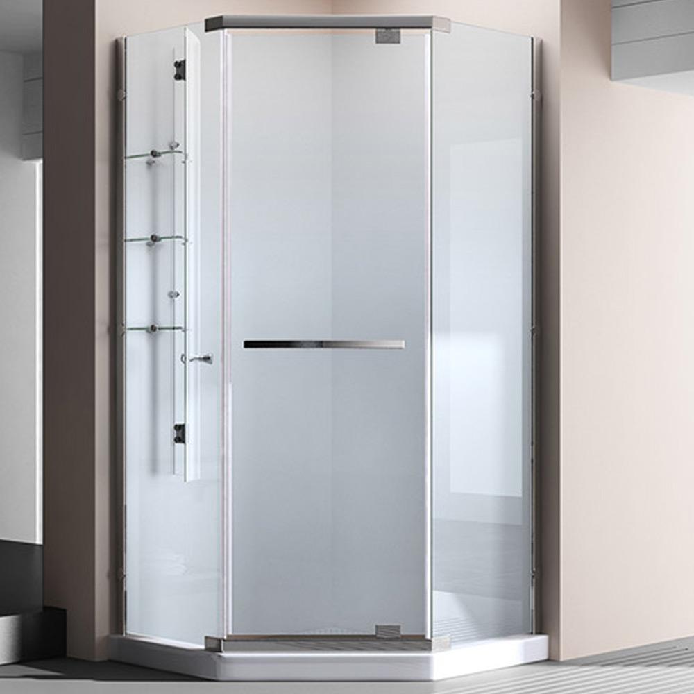 echtglas duschkabine duschabtrennung eckdusche 100 x 100 x 195 cm ravenna8k wow ebay. Black Bedroom Furniture Sets. Home Design Ideas