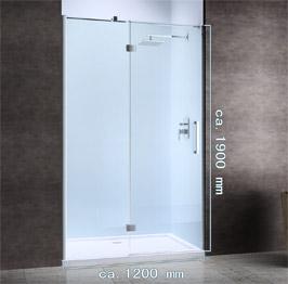 design duschwand glas nischent r duschabtrennung bad nische teramo20. Black Bedroom Furniture Sets. Home Design Ideas