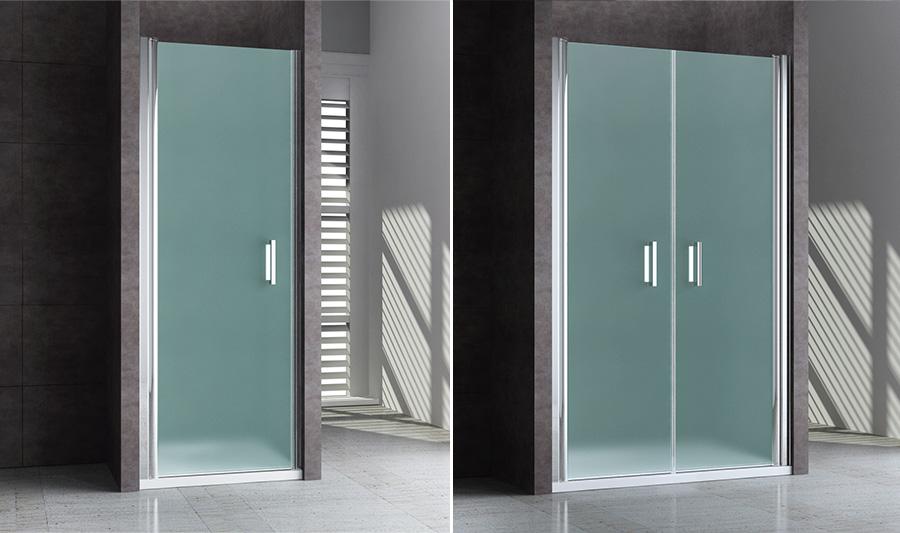 Nischentur Dusche Milchglas : Luxus design duschwand glas nischent?r duschabtrennung bad nische