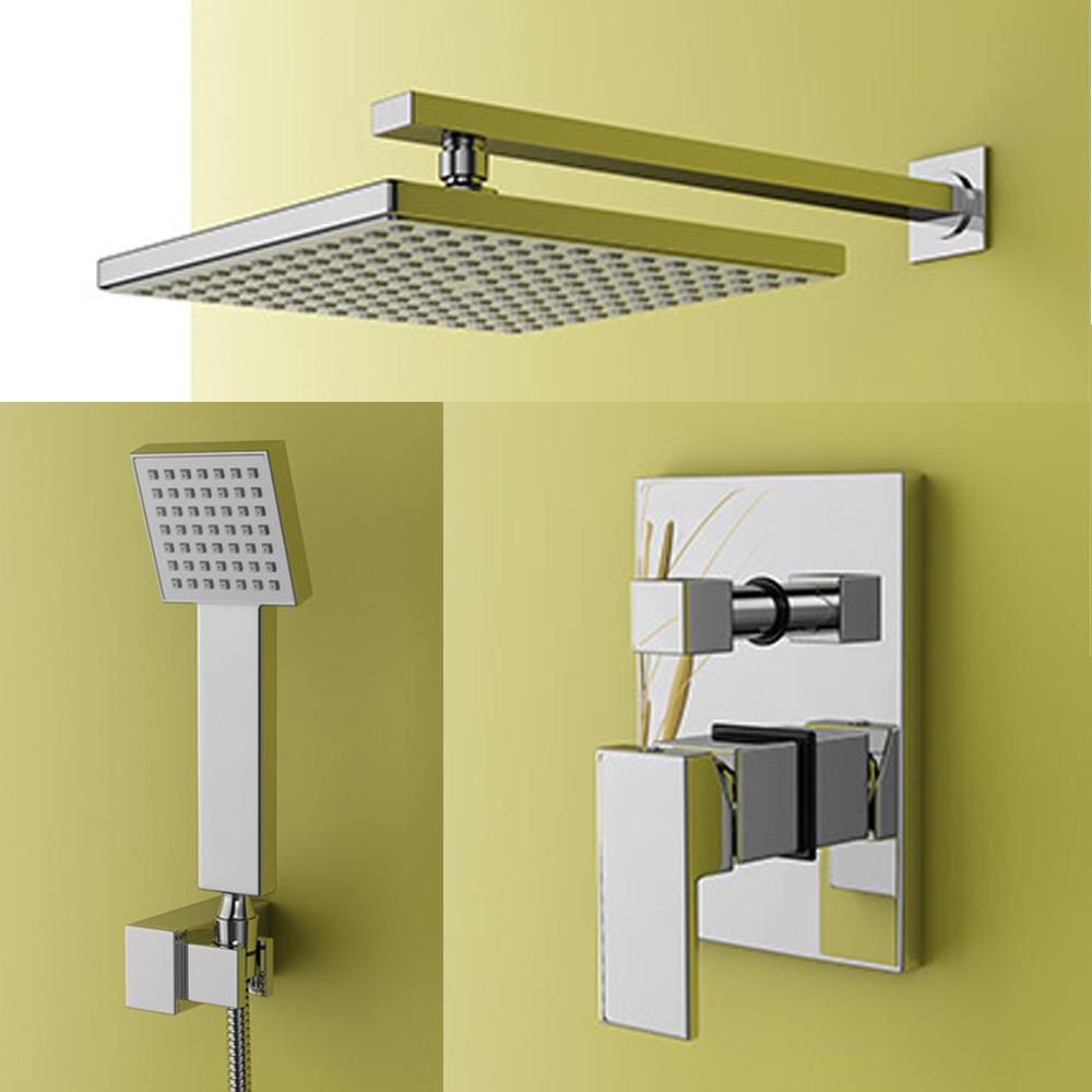 duschset unterputz dusche komplett duschkopf armatur brause regendusche jandia3 ebay. Black Bedroom Furniture Sets. Home Design Ideas