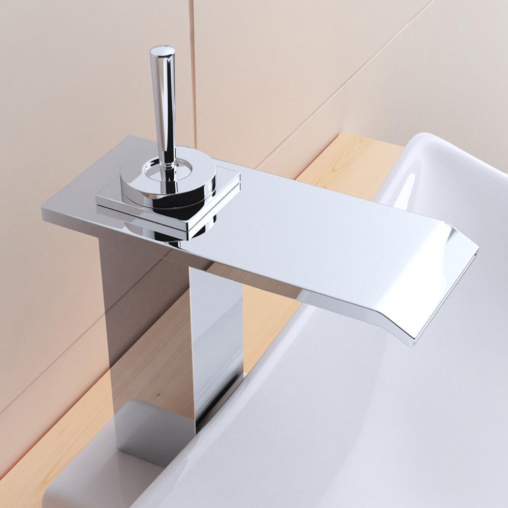 design waschtisch armatur wasserhahn wasserfall messing verchromt wa53 wow ebay. Black Bedroom Furniture Sets. Home Design Ideas