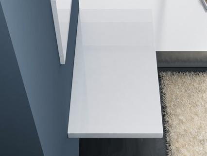 waschbeckenauflage hochglanz weiss tischpaltte wat 60 mm. Black Bedroom Furniture Sets. Home Design Ideas