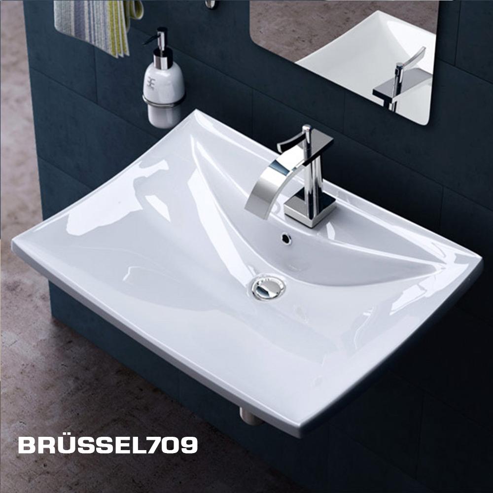 design keramik waschschale wandmontage waschbecken waschtisch waschplatz top ebay. Black Bedroom Furniture Sets. Home Design Ideas