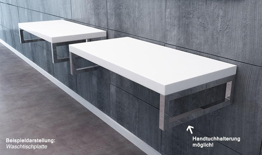 design edelstahl wandkonsole regalhalter regaltr ger. Black Bedroom Furniture Sets. Home Design Ideas